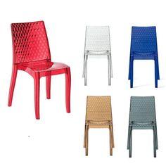 Sedie per locali in polipropilene con gambe in alluminio modello ...