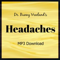 Dr. Bunny Vreeland's Headaches Hypnotherapy Session MP3 Download – Upgrade Your Life With Dr Bunny www.upgradeyourlifewithdrbunny.com