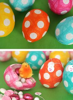 {Tutorial} DIY Paper Mache Eggs with a surprise inside-Get all the info here