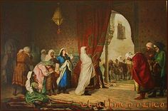 Salida de la familia de Boabdil de la Alhambra, 1880. Manuel Gómez Moren