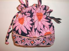 Vera Bradley Emma Loves Me Pink Daisies Breast Cancer Purse Cinch Tote | eBay