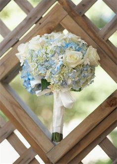 Blue and ivory bouquet