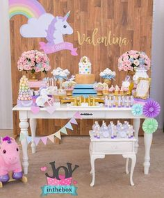 Idea para decorar. #unicorn #fiestasinfantiles