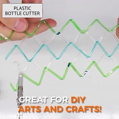 This Plastic Bottle Cutter makes recycling even smarter. With it, we can reuse and recycle plastic bottles of all kinds and turn them into convenient universal handy ropes, which will change the way of recycling. Plastic Bottle Cutter, Reuse Plastic Bottles, Plastic Bottle Flowers, Plastic Recycling, Plastic Bottle Crafts, Recycled Bottles, Plastic Craft, Diy Crafts Hacks, Diy Arts And Crafts