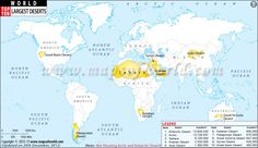Pin 22: This is a map of the top ten largest deserts in the world. Although most people imagine deserts to be hot, dusty places, deserts can be hot or cold. What is the name of the largest desert in the world? Is this desert a hot desert or a polar desert?