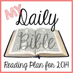 My Bible Reading Plan for 2014