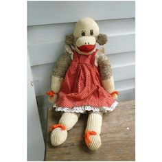 Vintage Hand Made Rockford Red Heel Sock Monkey Red Beard | Red ...