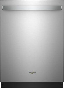 Whirlpool - 24 Built-In Dishwasher - Stainless steel - Front_Zoom