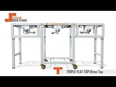 Three Kettle, Single Tier Brew Stand