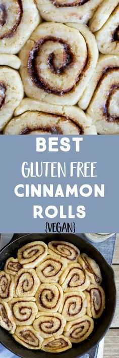 These really are the Best Gluten Free Cinnamon Rolls! Fluffy, light and delicious! Perfect for breakfast! Vegan too! These really are the Best Gluten Free Cinnamon Rolls! Fluffy, light and delicious! Perfect for breakfast! Vegan too! Gluten Free Deserts, Gluten Free Sweets, Gluten Free Breakfasts, Foods With Gluten, Gluten Free Cooking, Dairy Free Recipes, Gluten Free Recipes For Breakfast, Gf Recipes, Vegan Gluten Free Bread