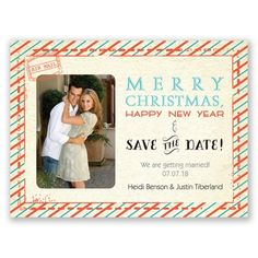 Sy Stripes Holiday Card Save The Date