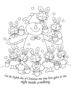 Free Dearie Dolls Digi Stamps: On the Eighth Day of Christmas.....