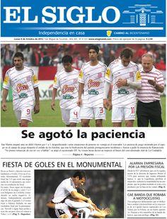 Diario El Siglo - Lunes 8 de Octubre de 20 12