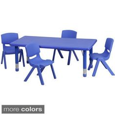 Shop for Height-adjustable Plastic and Steel Preschool Activity Table Set. Get free delivery at Overstock.com - Your Online Furniture Shop! Get 5% in rewards with Club O!