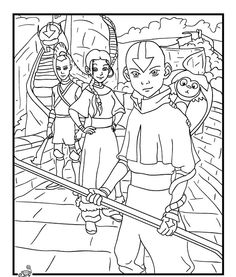 avatar coloring pages online