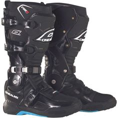 O'Neal Racing RDX Men's Motocross Motorcycle Boots – Black / Size 10 | Motorcycle Boots SuperStore