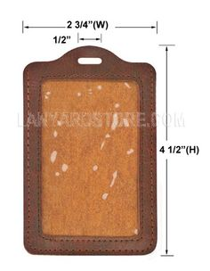 Vertical Custom Leather ID Holder (Card Size: 2 1/2 X 3 3/4)