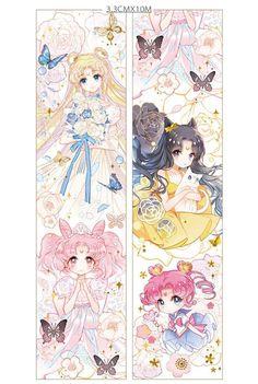 Princess Serenity, Princess Chibiusa, Luna and Chibi Chibi 👸🌙 Arte Sailor Moon, Sailor Moom, Sailor Moon Fan Art, Sailor Moon Character, Sailor Chibi Moon, Sailor Moon Crystal, Sailor Venus, Sailor Jupiter, Sailor Moon Personajes