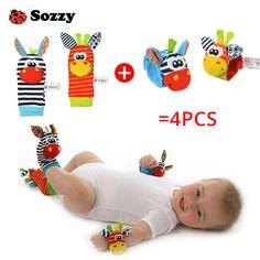 4pcs Zebra Baby Infant Wrist and Socks Rattle Foot Finders Set //Price: $4.79 & FREE Shipping //     #girlsdresses