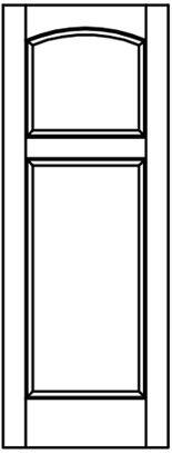 Arch Raised Panel Door 2acrv | Woodport Doors