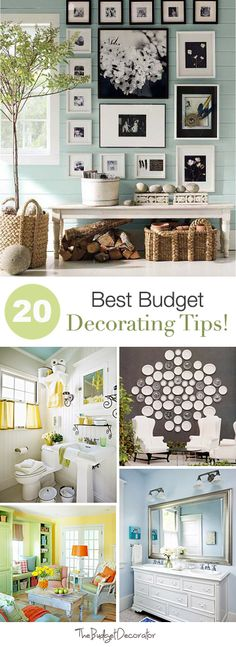 20 Best Budget Decorating Tips! oh my goodness. so cute McPadden McPadden Widdoes - Decor Collage Ideas House Design, New Homes, Diy Home Decor, Home, Interior, Home Diy, Home Deco, Decorating On A Budget, Home Decor