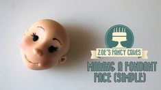 Making a fondant face (simple version) character head How To Tutorial Zo... Fondant Figures Tutorial, Fondant Toppers, Cake Tutorial, Fondant Cakes, Cupcake Cakes, Fondant Man, Cake Decorating Techniques, Cake Decorating Tutorials, Zoes Fancy Cakes