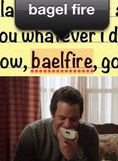 Bagel fire. hilarity is intense..