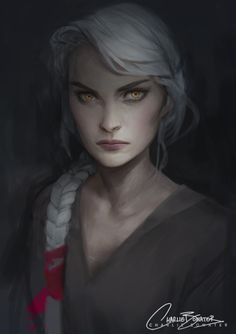 """@charliebowater.tumblr.com: """" Manon work in progress. Not wasting any time getting on the Empire of Storms art train!"""