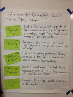 strategies for generating realistic fiction story ideas Informational Writing, Narrative Writing, Fiction Writing, Writing Workshop, Writing A Book, Fourth Grade Writing, Kindergarten Writing, Teaching Writing, Literacy