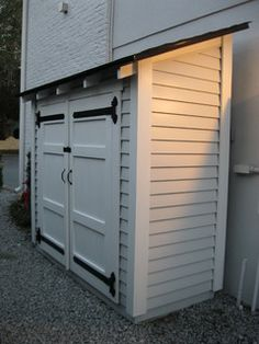 Outdoor Storage Shed, Storage Room, Outdoor Storage, Outdoor Storage, And Potting Shed - Traditional Garage And Shed By Historic Shed Backyard Storage, Garden Storage Shed, Outdoor Storage Sheds, Storage Shed Plans, Outdoor Sheds, Storage Ideas, Bike Storage, Storage Design, Storage Room