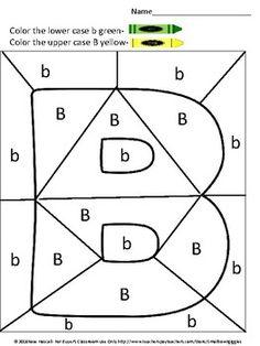 Free Sampler Alphabet Color By Code Preschool, Kindergarten, Special Education Kindergarten Special Education, Kindergarten Freebies, Preschool Kindergarten, Kids Education, Alphabet Worksheets, Alphabet Activities, Alphabet And Numbers, Uppercase Alphabet, French Language Learning