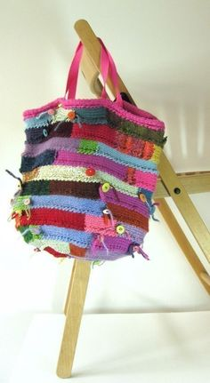 This is so cool! I think I need to try this!!!    Spiral Bag Knitting Pattern Knitted Bag Knitting by clairecrompton, £3.50