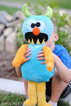 Monster stuffed animal pattern for a soft and snuggly plushie for kids.