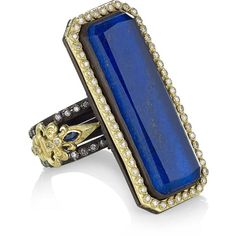 Armenta Lapis Lazuli and Diamond Ring (£2,830) ❤ liked on Polyvore featuring jewelry, rings, sormukset, lapis lazuli ring, lapis lazuli jewelry, diamond jewelry, oxidized jewelry and armenta