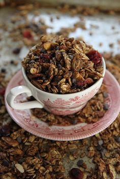 Oatmeal Cookie Granola #vegan #gultenfree