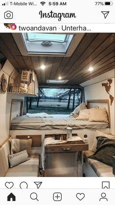 Cargo Trailer Camper, Vw Crafter Camper, Van Conversion Campervan, Astuces Camping-car, Van Dwelling, Camper Life, Bus Life, Van Home, Van Interior