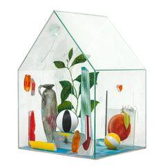 * Therman Statom, (American, b. Glass House on Turn Table April 7, Norman Rockwell, Global Art, Glass House, Art Market, Impressionism, American Art, St Louis, Glass Art