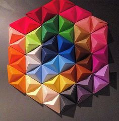 how to make paper wall art.