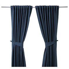 "BLEKVIVA Curtains with tie-backs, 1 pair - IKEA $34.99 57""x98"""