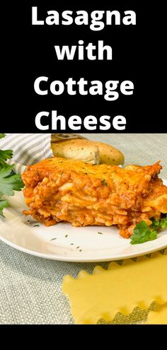 This lasagna recipe is loaded with cheese and the perfect hamburger tomato sauce. Easy to put together and a family favorite! Lasagne Recipes, Easy Lasagna Recipe, Homemade Lasagna, Budget Freezer Meals, Easy Meals, Lasagna With Cottage Cheese, How To Cook Lasagna, Best Comfort Food, Comfort Foods