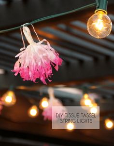 DIY Tassel String Lights - give your string lights a whimsical upgrade