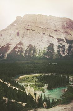 Bow River in Banff, Alberta.