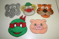 CARETAS PERSONAJES Dibuja tu personaje favorito, recorta y ponle una goma. Se el más original de tu fiesta de cumpleaños. #caretainfantil #manualidadesniños www.dobondy.com