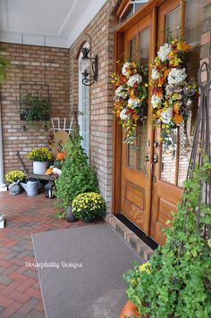 2014 Fall Porch-Housepitality Designs This whole entry is gorgeous!