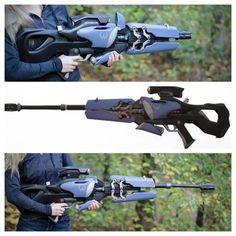 Widowmaker's Widow's Kiss Collapsible Sniper Rifle (Overwatch) 3D Printing 112937