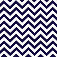 """Designerstoffe USA - """"CHEVRON"""" Baumwollstoff marine-weiß - ein Designerstück von Premier-Prints-Stoffe bei DaWanda"""