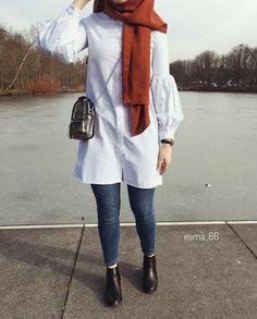 ✔ Fashion Winter Hijab Egypt winter hijabA scarf is the most important bit within Egypt Fashion, Ad Fashion, Fashion 2020, Fashion Outfits, Street Hijab Fashion, Muslim Fashion, Modest Fashion, Hijab Mode Inspiration, Hijab Fashionista