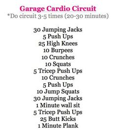 Love this at home workout if I dont have time to hit the gym!