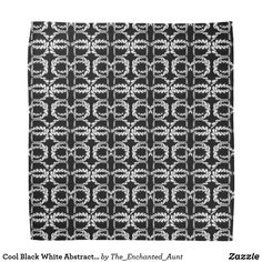 Shop Cool Black White Abstract Pattern Design Face Mask Bandana created by The_Enchanted_Aunt. Pattern Design, Print Design, Black And White Abstract, Black White, White Chic, Text Style, Niece And Nephew, Personalized T Shirts, Cool Patterns
