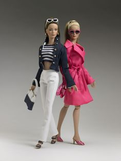 The Hamptons Collection - Navy & White Yachting Stripes Top (left)  FAO Boutique  The Hamptons Collection - Navy Captain's Jacket (left)  FAO Boutique  Raspberry Trench (right)  FAO Boutique LE200 Each (2005)
